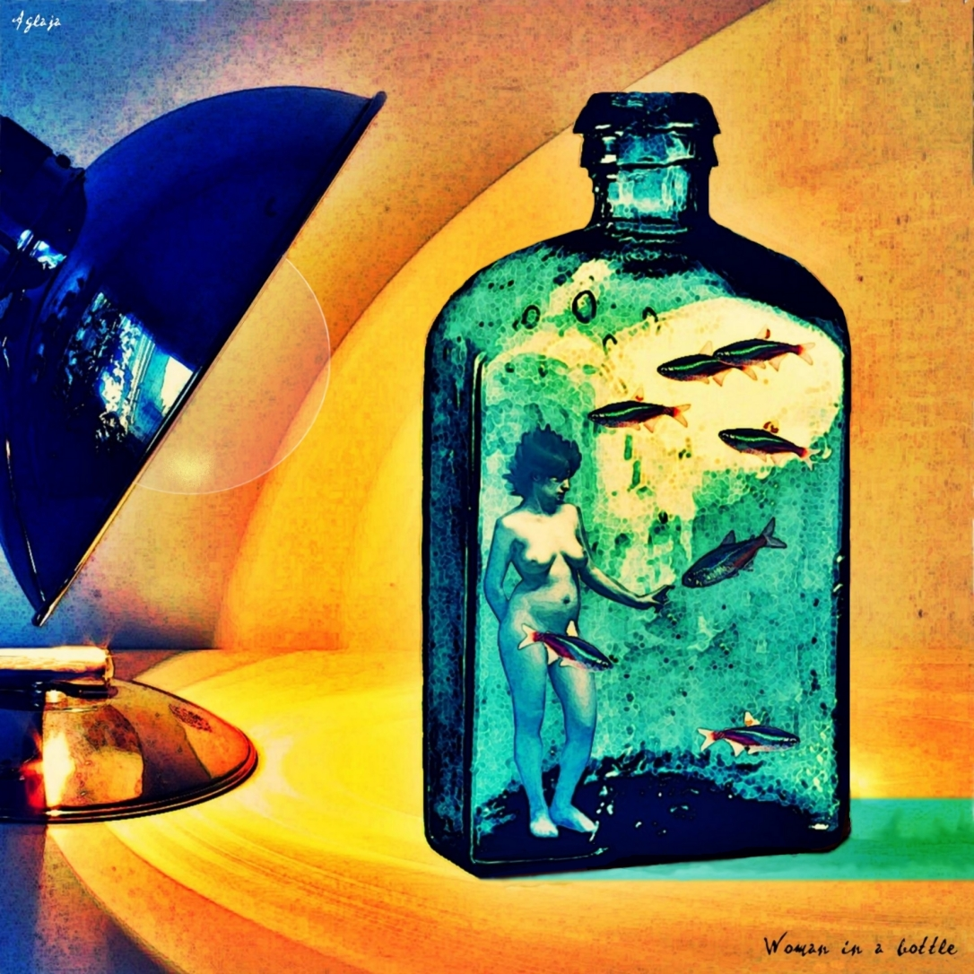 woman in a bottle